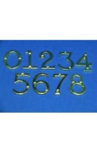 Цифра дверная металлическая, хром